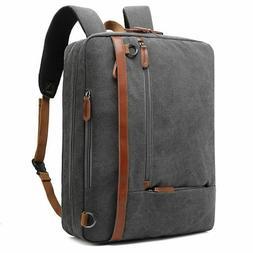 convertible backpack messenger shoulder bag fits 17