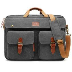 "CoolBELL Convertible Messenger Bag Backpack 17.3"" Canvas Dar"