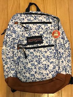 JanSport JS0A2SDD4Z9 Cool Student Backpack, White Field Flor