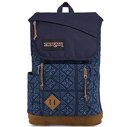 Jansport Cordura Fabric / Suede Leather Hensley Backpack Blu
