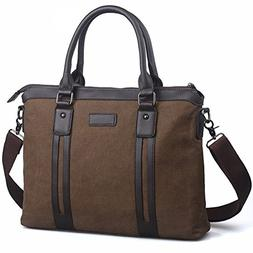 Egoelife Cotton Canvas Briefcases Business Handbag Messenger