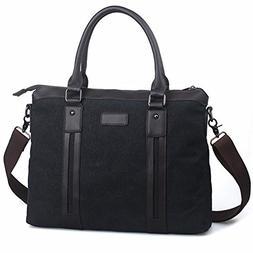 Egoelife Cotton Canvas Briefcases Business Handbag Messenger