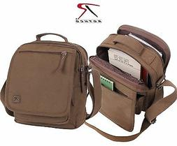 Cotton Canvas Everyday Work Shoulder Bag - Rothco Brown or G