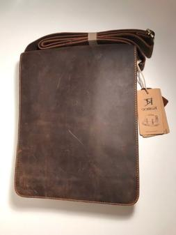 Kattee Crazy-Horse Cow Leather Brown Bag Satchel Over The Sh