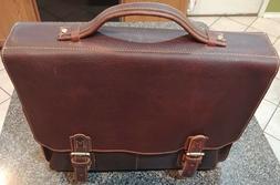 """Kattee Crazy Horse Leather Men Briefcase Business Bag 16/""""laptop Bag Messenger"""