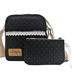 Small Crossbody Purse Canvas Organizer Messenger Travel Shou