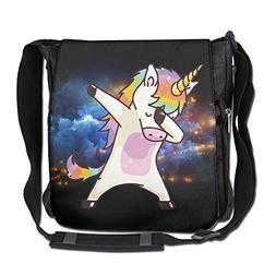 NYYSBU Crossbody Messenger Bag Hip Hop Unicorn Rainbow Shoul