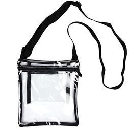 Clear Crossbody Messenger Shoulder Bag With Adjustable Strap