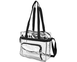 """Deluxe Clear 12"""" x 12"""" x 6"""" NFL Stadium Approved Tote and Me"""