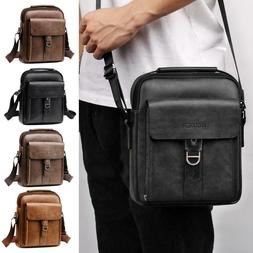 Fashion Men PU Leather Shoulder Bags Casual Messenger Packs