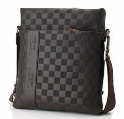fashion men s leather messenger bag crossbody