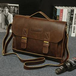 Vintage Men's Leather Messenger Bag Crossbody Shoulder Bags