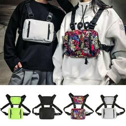 Fashion Tactical Chest Rig Bag Nylon Pouch Outdoor Sport Lei