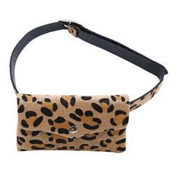 Female Waist Bag Messenger Bag Leopard Print Travel Waist Pa