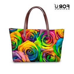 Floral Women's new fashion Satchel Messenger Handbag tote sh