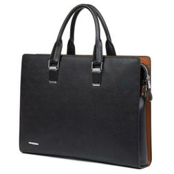 BOSTANTEN Formal Leather Briefcase Shoulder Laptop Business