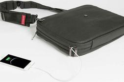 Phorce Freedom Charging Briefcase Messenger Bag Laptop Acces