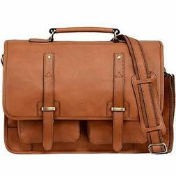 full grain italian leather briefcase for men