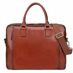 Banuce Full Grains Italian Leather Briefcase for Women Handb