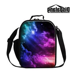 Dispalang Galaxy Print Insulated Lunch Bags for Kids Small M