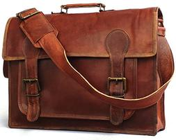 Vintage Couture 18 Inch Genuine Business Leather Laptop Mess