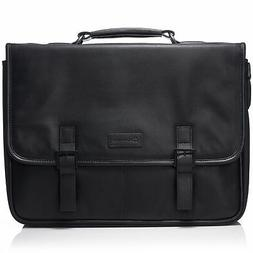 "Alpine Swiss Genuine Leather 15.6"" Laptop Briefcase Flap O"