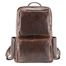 Kattee Unisex Genuine Leather Backpack Business Travel Daypa