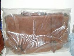 "Genuine Leather Messenger Bag 15"" x 11.5"" x 6"" Brown New in"