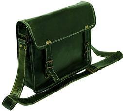 Jaald genuine Leather Messenger Bag Laptop Briefcase Satchel