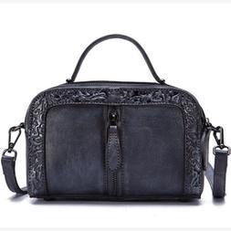 Genuine Leather Women Handbag Messenger Crossbody Shoulder L