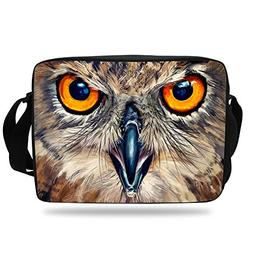 VEEWOW Girls Messenger Bag For School Night Owl Shoulder Bag