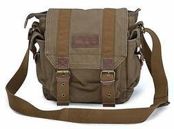 Gootium Canvas Messenger Bag - Small Vintage Shoulder Bag Cr