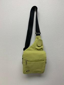 Travelon Green/Blue Cross body Sling Organizer Messenger Bag