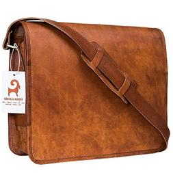 Urban Leather Handmade Over The Shoulder Laptop Bag for Men