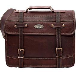 Handmade_World Leather Laptop Messenger Computer Bag / 11x15