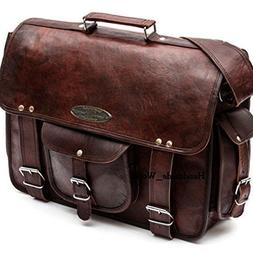 "Handmade_World Leather Messenger Bags for Men Women 18"" Men"