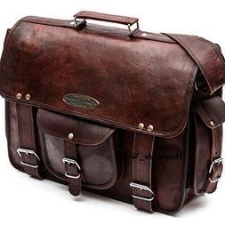 """Handmade_World Leather Messenger Bags for Men Women 18"""" Men"""
