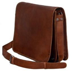 High Quality Messenger Bag Genuine Vintage Leather Satchel L