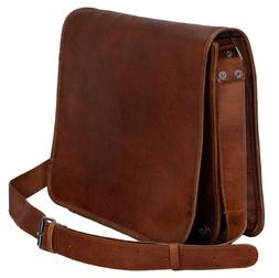 High Quality Messenger Bag Genuine Vintage Leather Satchel L