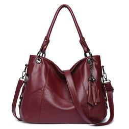 Hot Sale Women Leather Handbags Messenger Crossbody Top-hand