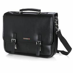 Alpine Swiss Hunter Leather Briefcase Professional Messenger