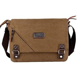 ibagbar Canvas Messenger Bag Shoulder Bag Laptop Bag Compute