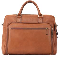 Banuce Vintage Full Grain Italian Leather Briefcase for Men