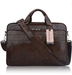 215564a4aaa4 Editorial Pick Jack   Chris Mens Geniune Leather Briefcase Messenger Bag