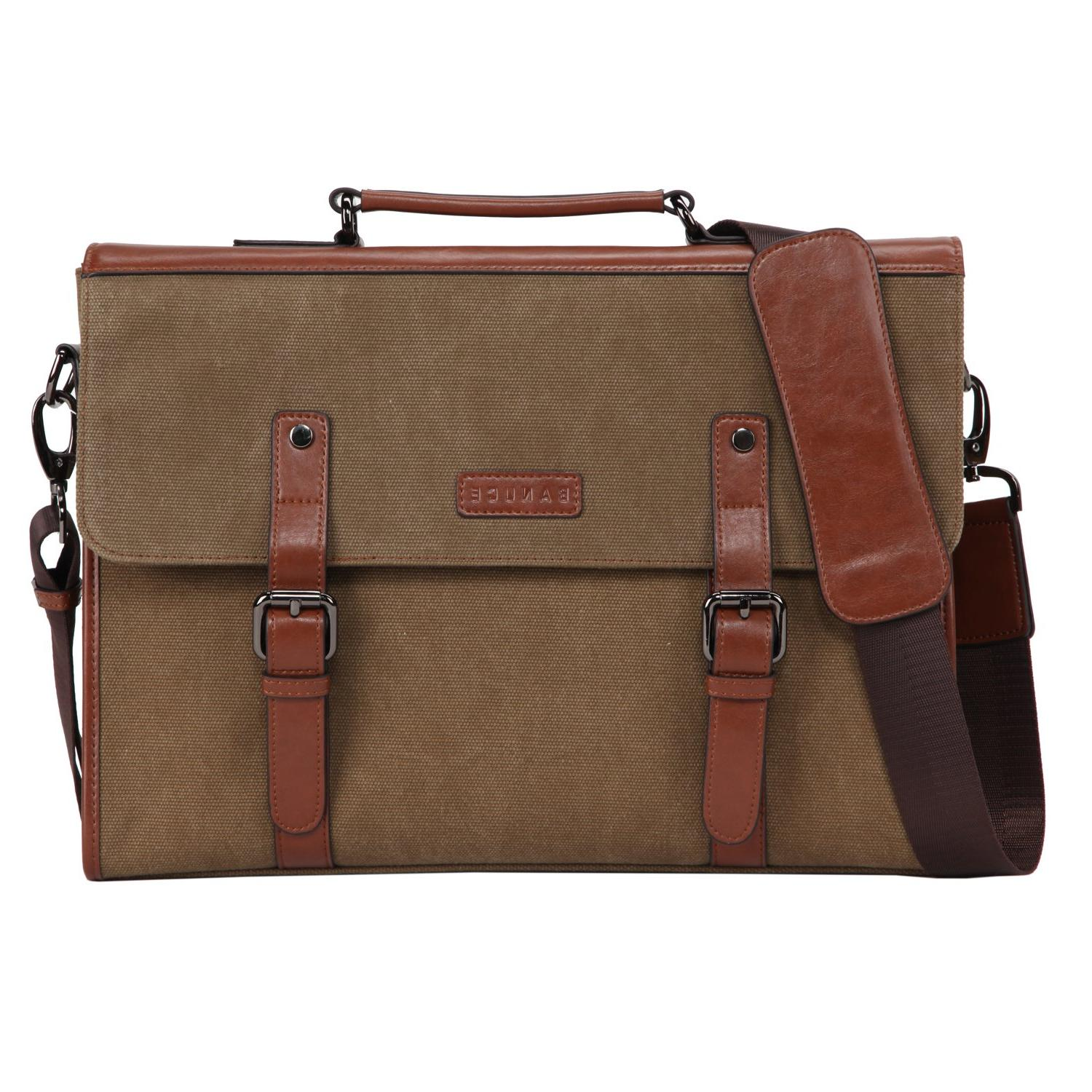 Banuce 13.3 inch Laptop Messenger Bag for Men Vintage Canvas