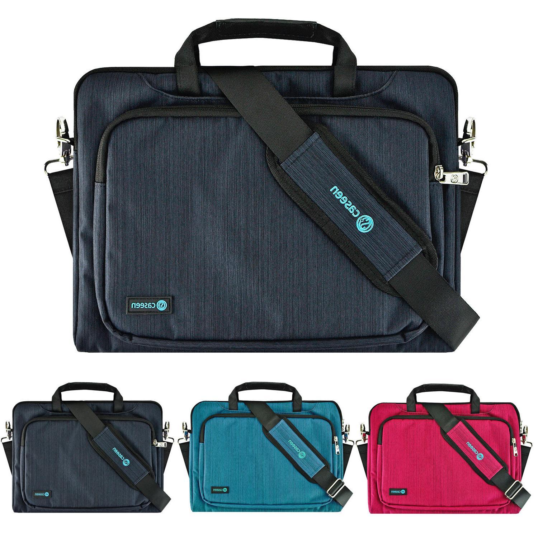 "13.3"" Slim Luxury Ultrabook Laptop Sleeve Messenger Handle B"