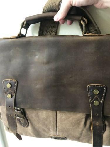 """Lifewit 14"""" Vintage Leather Shoulder College"""
