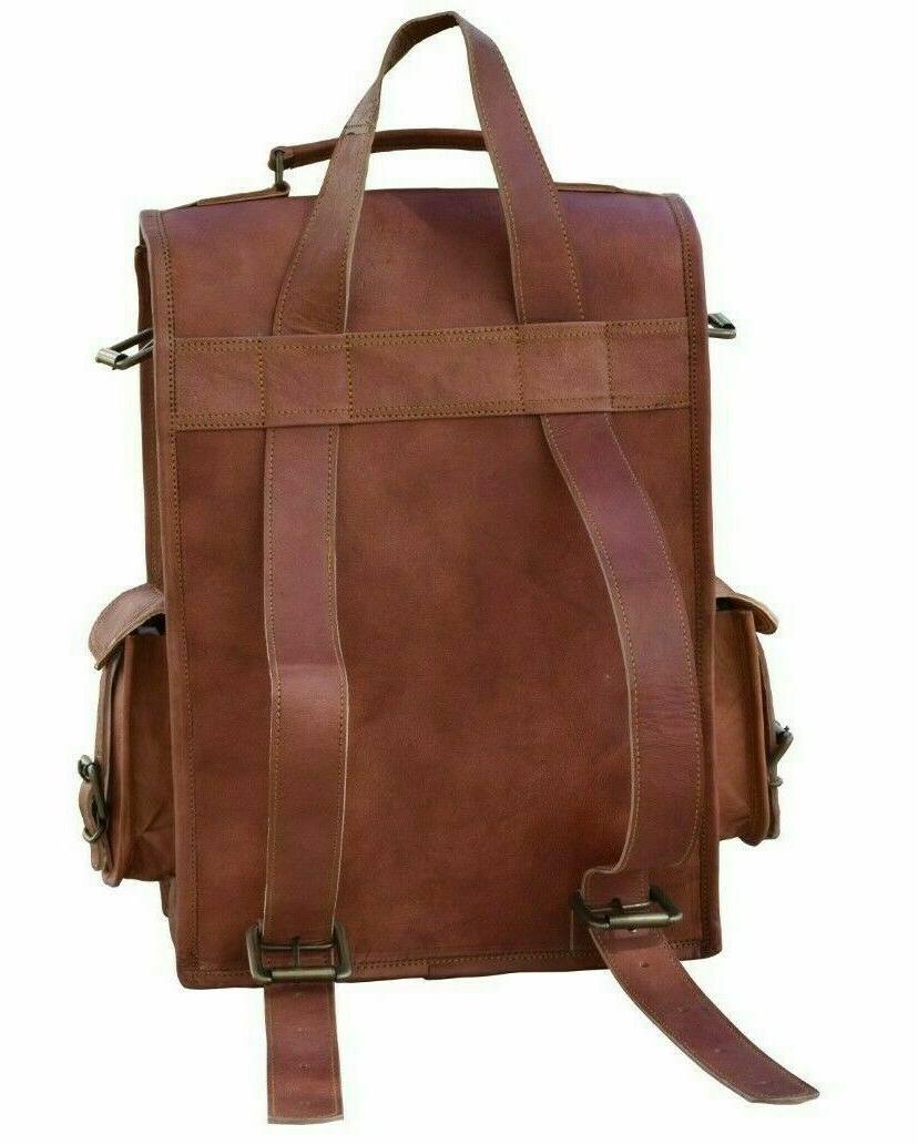 """15"""" To 18"""" Men's Vintage Satchel Laptop Backpack Rucksack"""