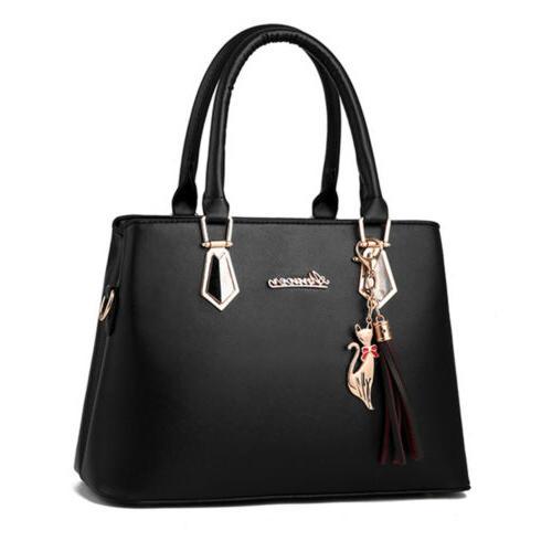 2set Women's PU Handbag Large Capacity Tote