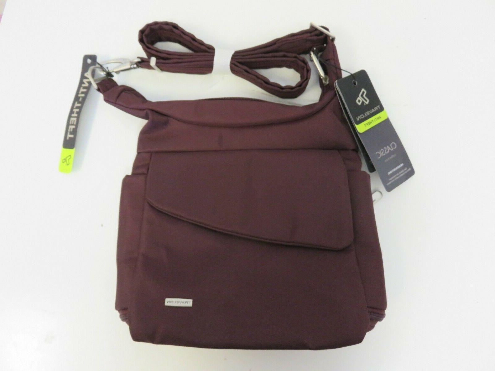42242 anti theft classic messenger bag dark